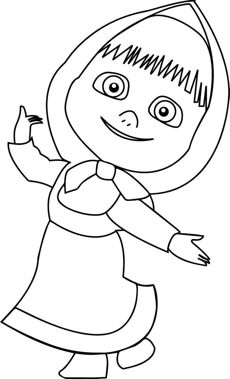 Mawa Kawa Masha Girl Bear Coloring Page Also See The Read More