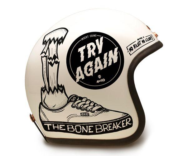 4h10 Com Stickers Serie 2 On Behance Cafe Racer Helmet Vintage Helmet Motorcycle Helmets Vintage