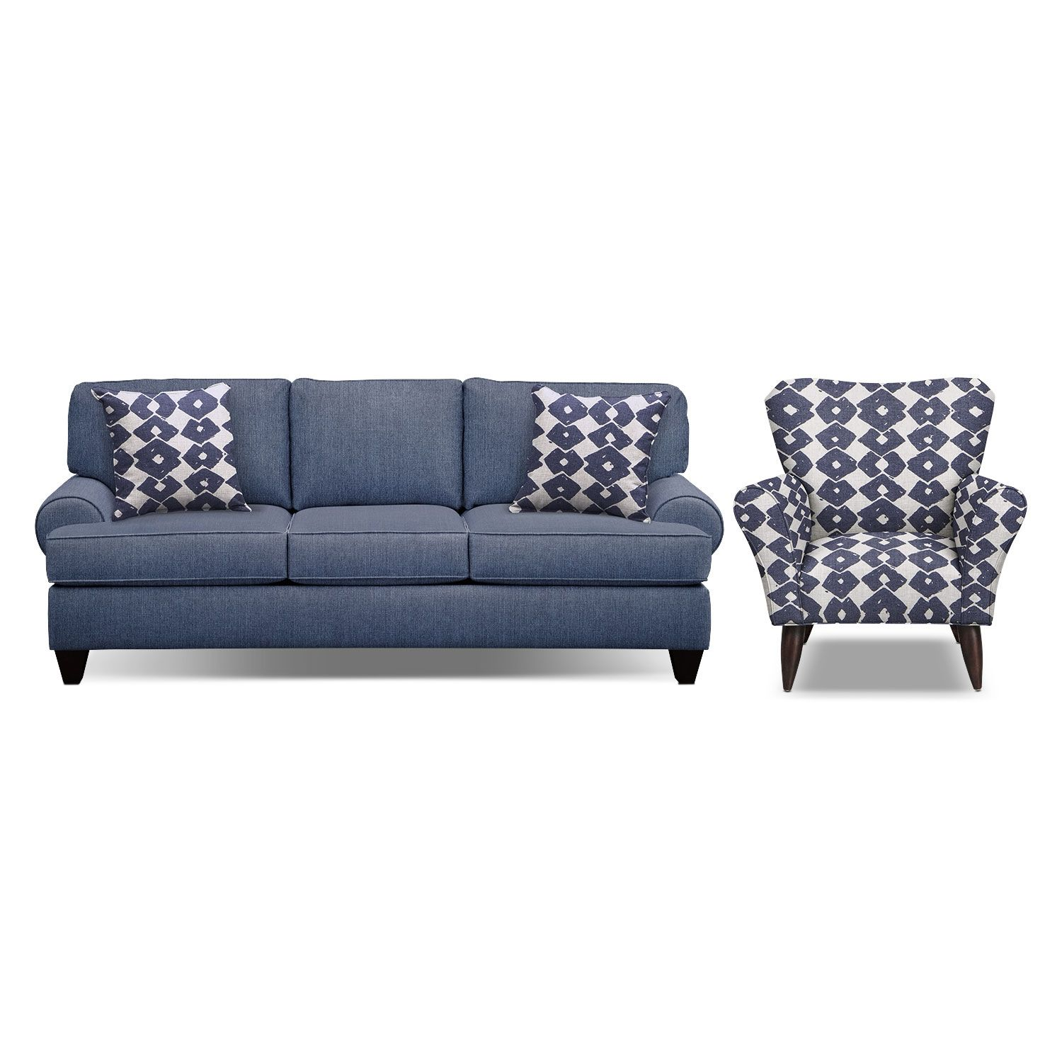 Living Room Furniture - Bailey Blue 91