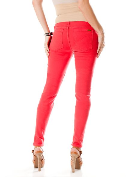 9c20fb46074f9 Joe's Jeans Chelsea Skinny Maternity Jeans in Lollipop Red! | Baby ...