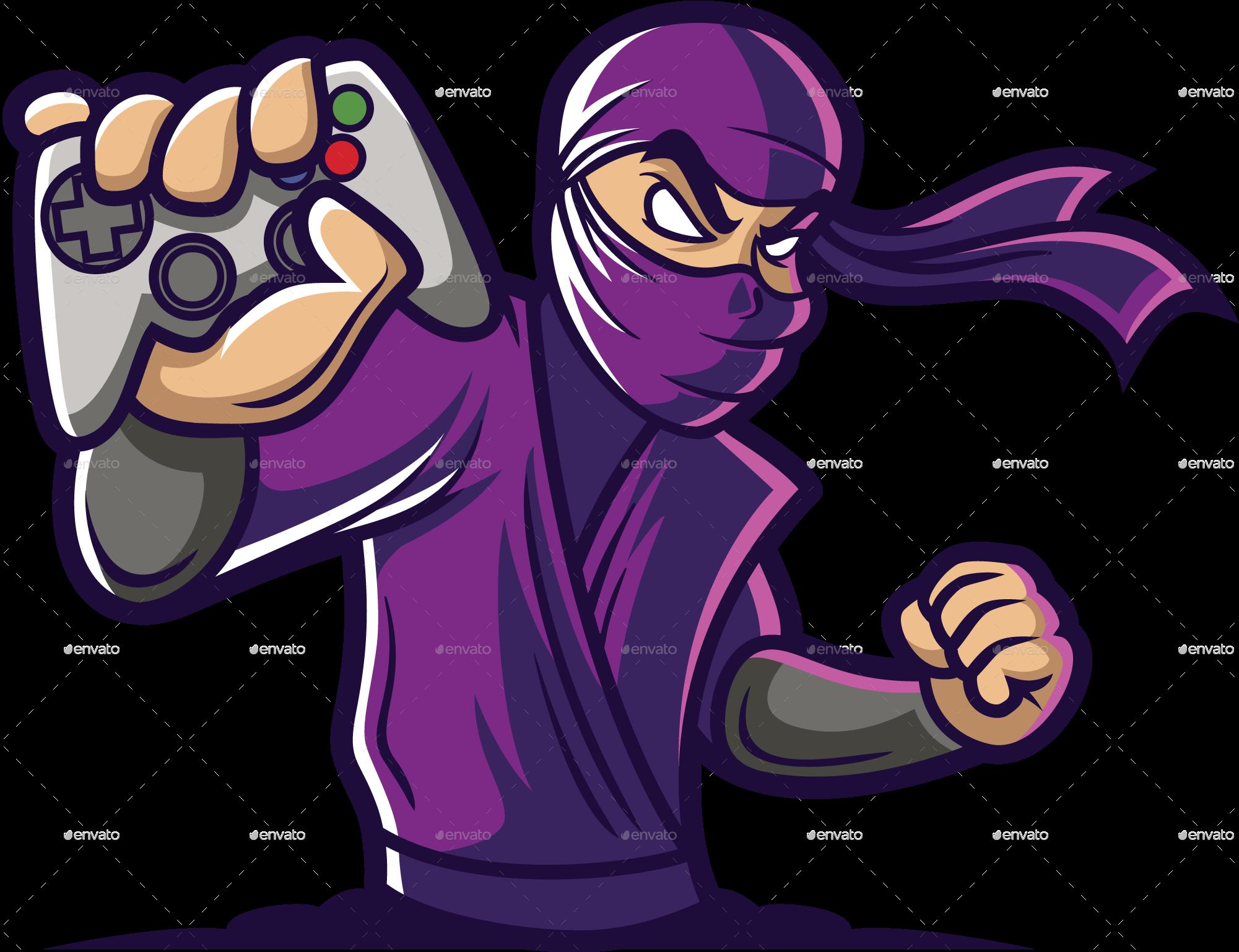 Gaming Ninja Logo Template Ninja logo, Logo templates, Logos