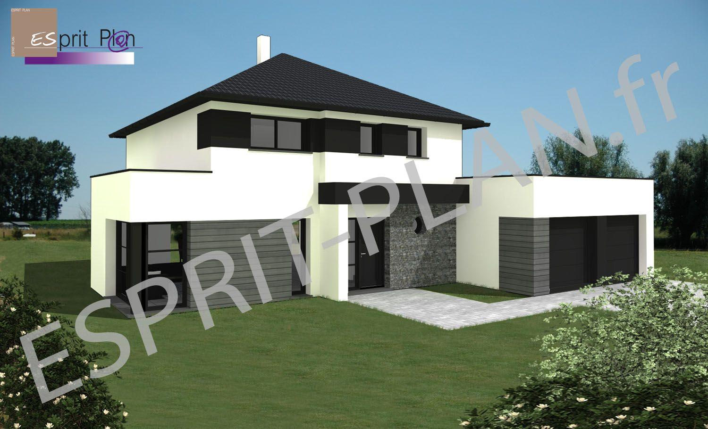maison espace grand volume bioclimatique style maison contemporaine plain pied basse. Black Bedroom Furniture Sets. Home Design Ideas