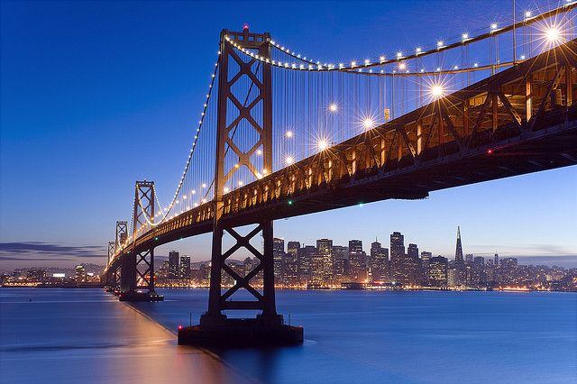 Bay Bridge Twilight by David Shield Photography, via Flickr