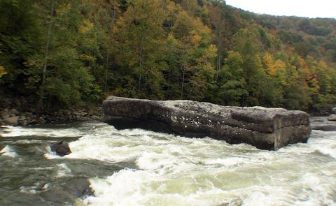 Shipwreck Rock , a notorious undercut rock on the Upper Gauley River in  West Virginia