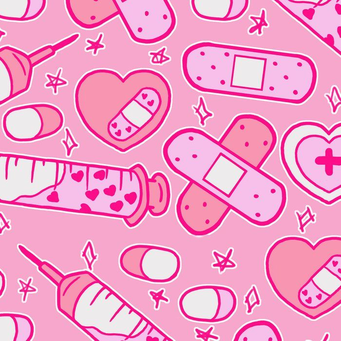 Kawaii Menhera On Pink Leggings By Frostedsosweet Medium Kawaii Wallpaper Pink Aesthetic Kawaii Art
