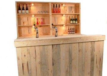 Steigerhouten Bar Met Kast Taps En Licht Bar In 2019