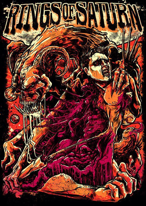 Rings Of Saturn Heavy Metal Art Metal Artwork Metal Albums