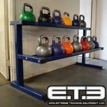 Kettlebell rack garage gym in kettlebell rack kettlebell