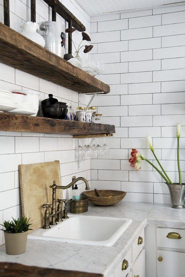 cuisine avec etagere en bois inspiration