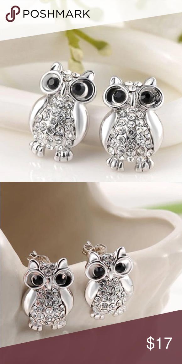 Colorful Owl Stretch Ring Crystal Rhinestone Fashion Animal Fashion Jewelry Gift