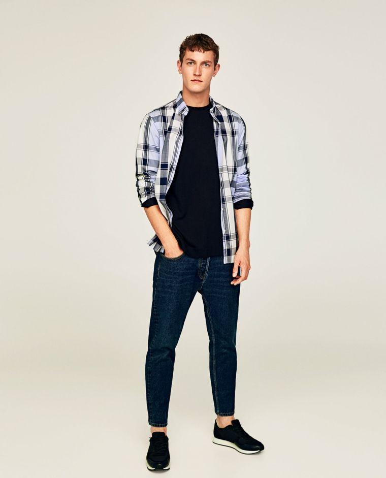 UomoAbbinare Idea T Camicia I Blu Con Jeans Outfit Nera E Shirt LUSMjzpqVG