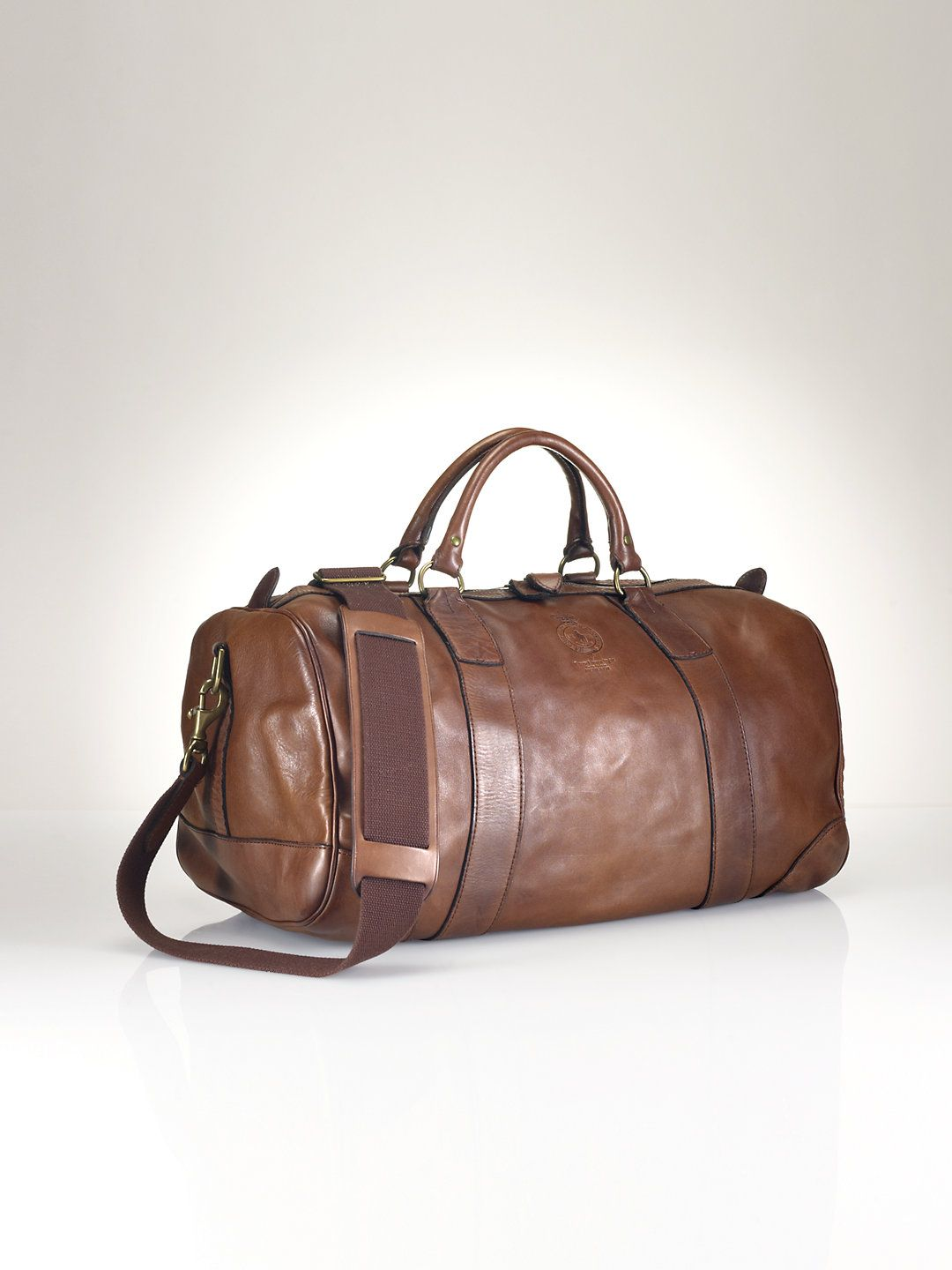883b66949fc7 Leather Duffel Bag - Bags   Business Accessories Men - RalphLauren ...