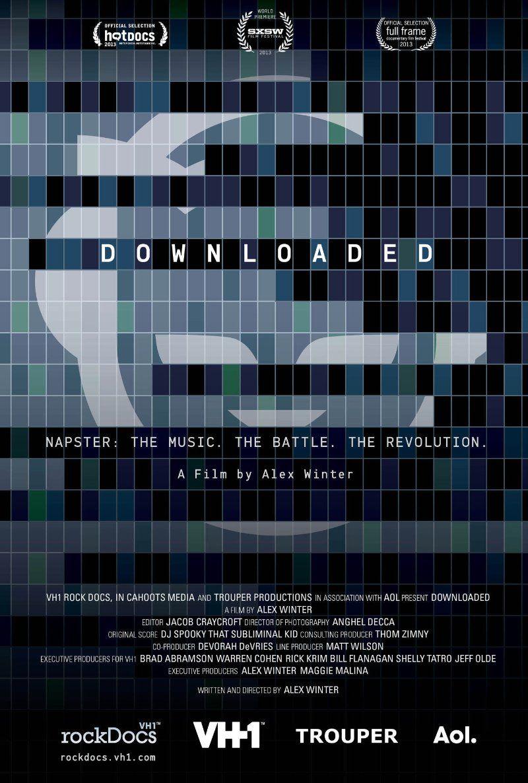"""Cartaz do filme """"Downloaded""""."""