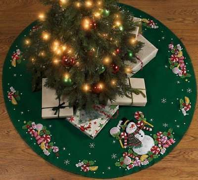 Other Hand Embroidery Tools 160723 Candy Snowman Tree Skirt Felt