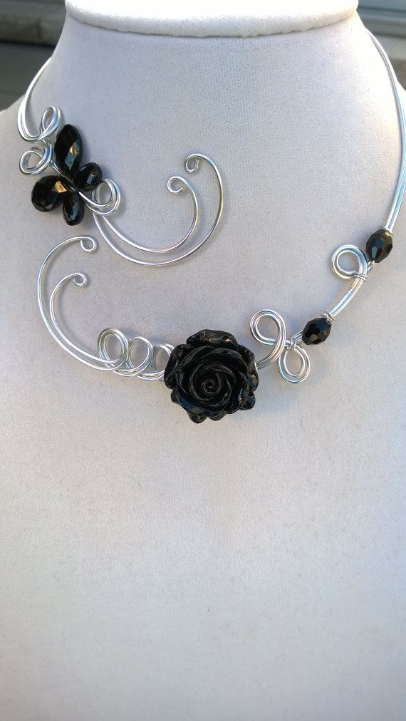 Perfect if a different color than black ...Alu wire jewelry Wedding ...