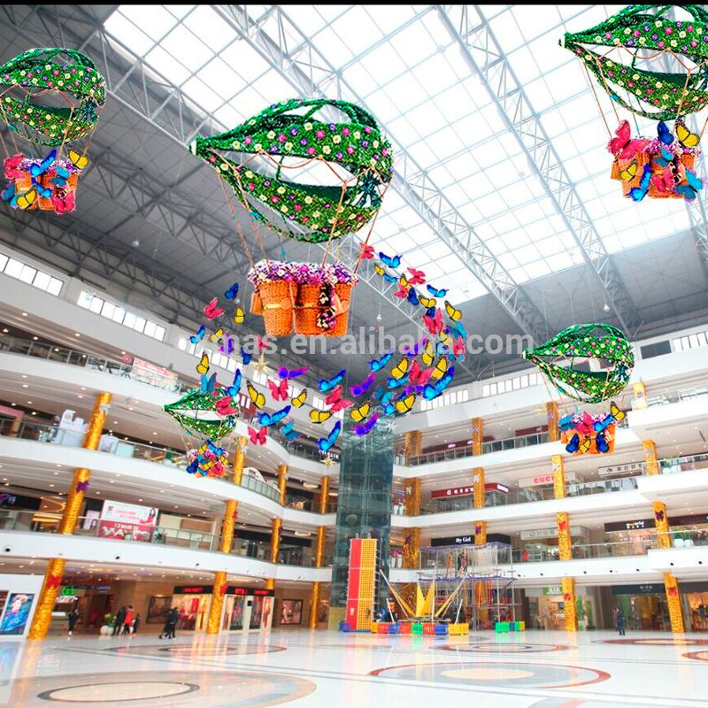 Christmas Decorations Store In Singapore: Mall Shopping Center Style Flowers Design Led Light