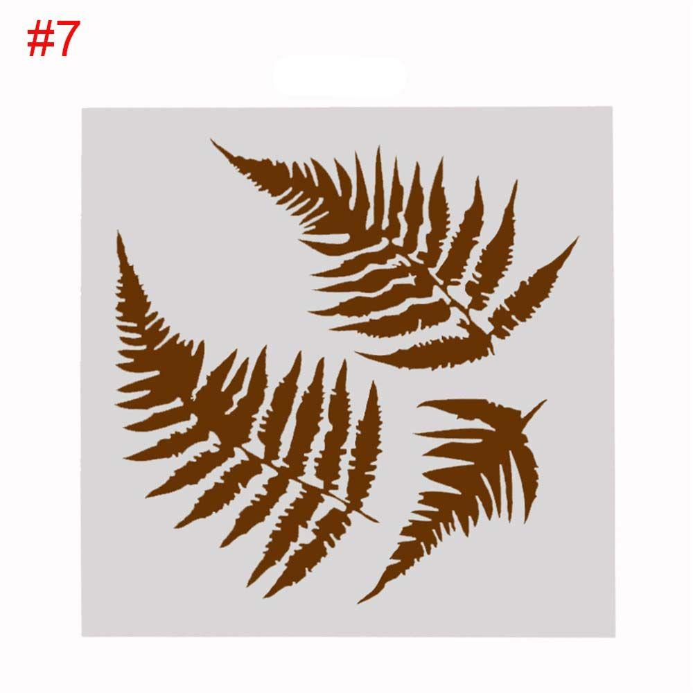 comprar 2 unids/set DIY hojas Craft Hollow plantillas para pared ...