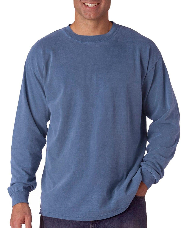 Garment Dyed Heavyweight Ringspun Long Sleeve T Shirt 6014