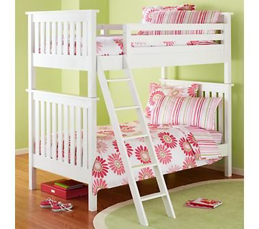Kids Bunk Beds Kids Twin White Simple Bunk Bed Home Sweet Home