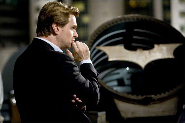Christopher Nolan and his Bat-Signal