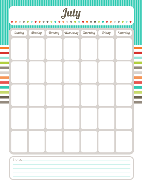Monthly Fill In Calendar Printables Calendar Organization