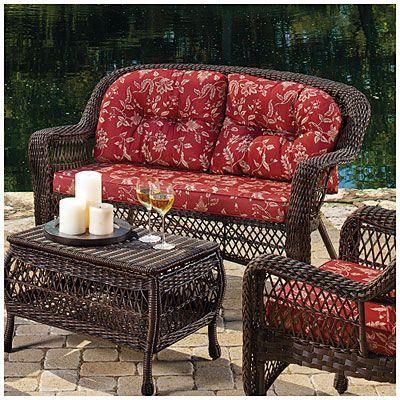 $99.39   Wilson U0026 Fisher® Savannah Resin Wicker Cushioned Sofa At Big Lots. Patio  Furniture ...