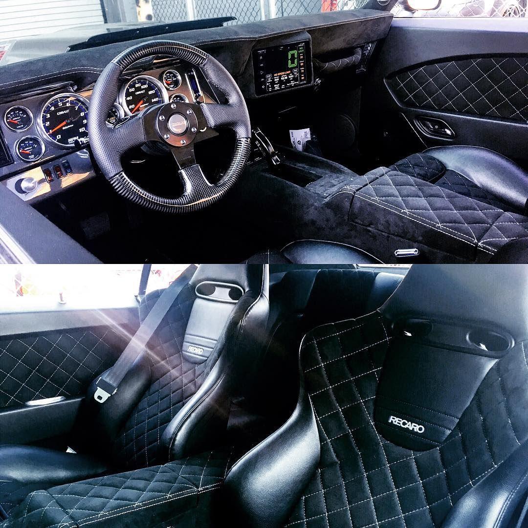 69 camaro becausess custom interior by proformanceindustries full alcantara ipad integration hertz speakers