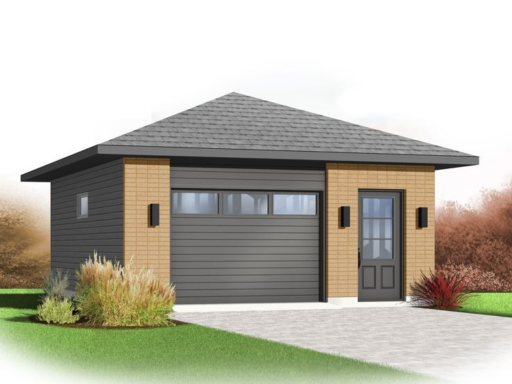 One Car Garage Plans Modern 1 Car Garage Plan 028g 0054 At Www