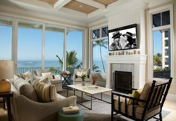 Estero Beach Homes - beach-style - Living Room - Miami - Freestyle Interiors