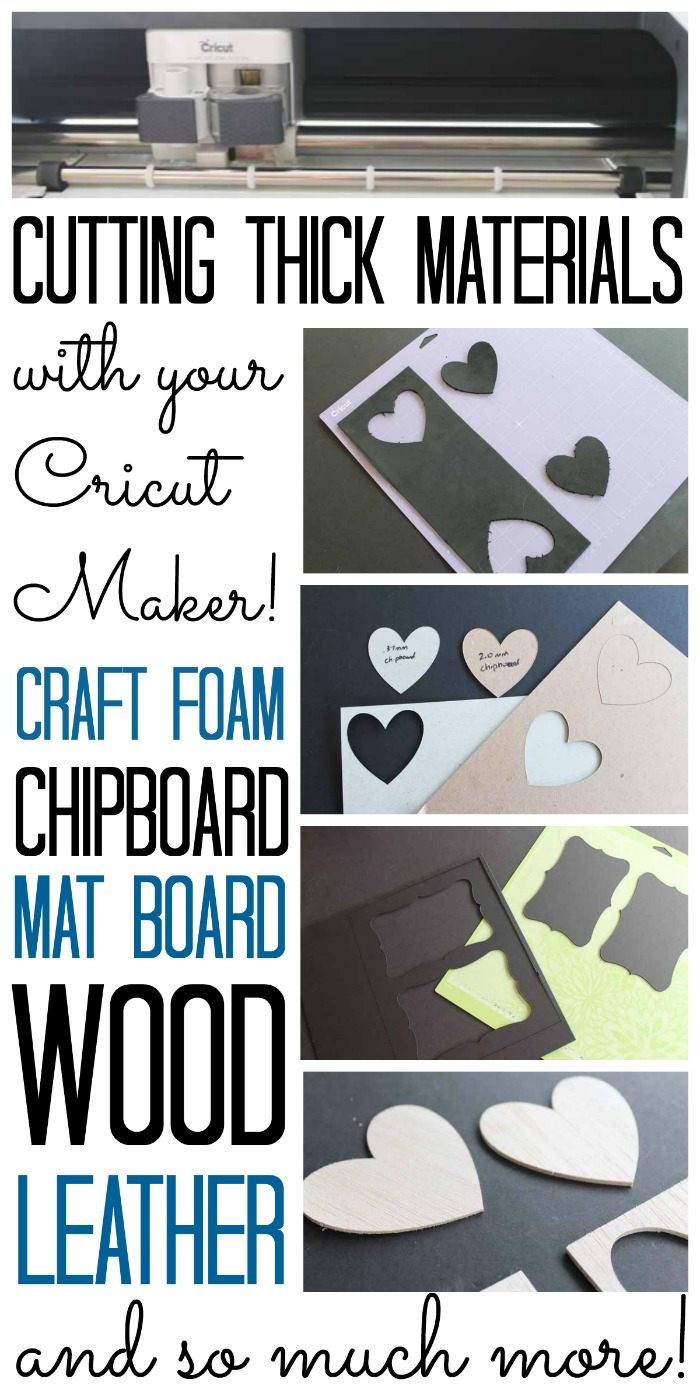 Cricut Knife Blade and Cutting Thick Materials with the Cricut Maker