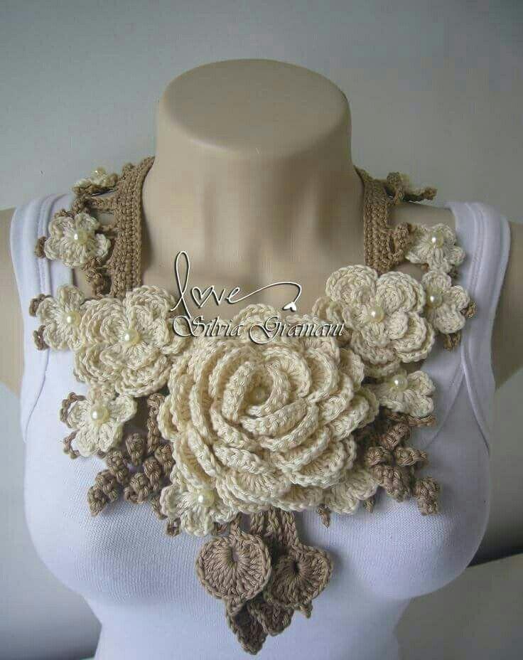 Collar, bufanda de tejido | matyarte | Pinterest