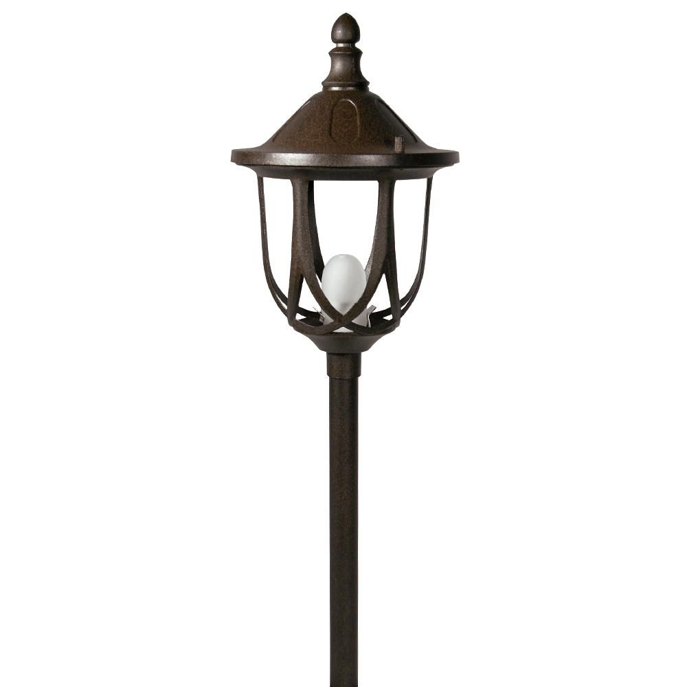Paradise Low Voltage 1-Light 10-Watt Rust Outdoor Landscape Standford Design Path Light Halogen bulb