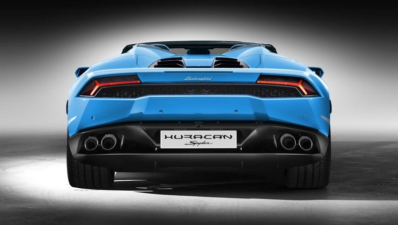 Lamborghini Huracan Spyder Back View Luxury Pinterest
