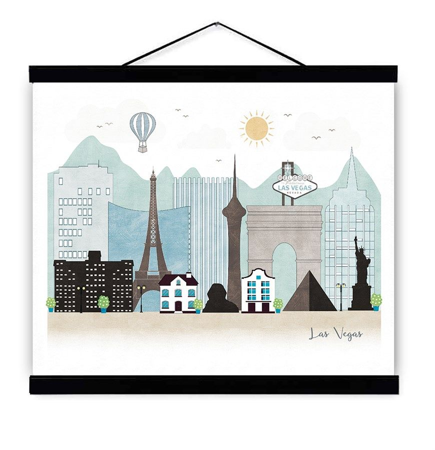 11x14 Cityscape Illustrated Prints