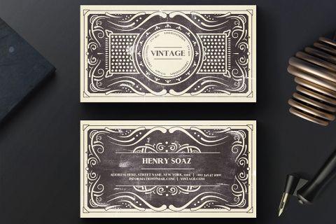 Vintage Business Card Template Free Design Resources Vintage Business Cards Template Vintage Business Cards Free Business Card Templates