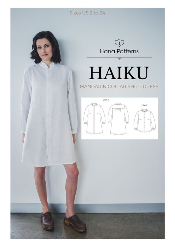 Chic Sewing Pattern for Women | The HAIKU mandarin collar shirt adds ...