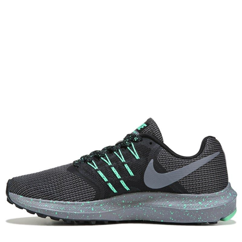 52ad28573e8 Nike Women s Run Swift Wide Running Shoes (Black Gunsmoke Green)