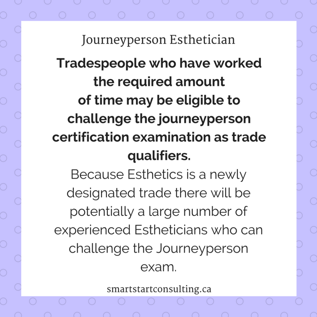 Questions about the Journeyperson Esthetician Certificate | Certificate