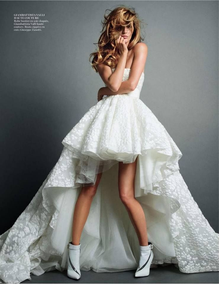 Flawless Bride in Giambattista Valli et Giuseppe Zanotti Boots @Vogue Paris