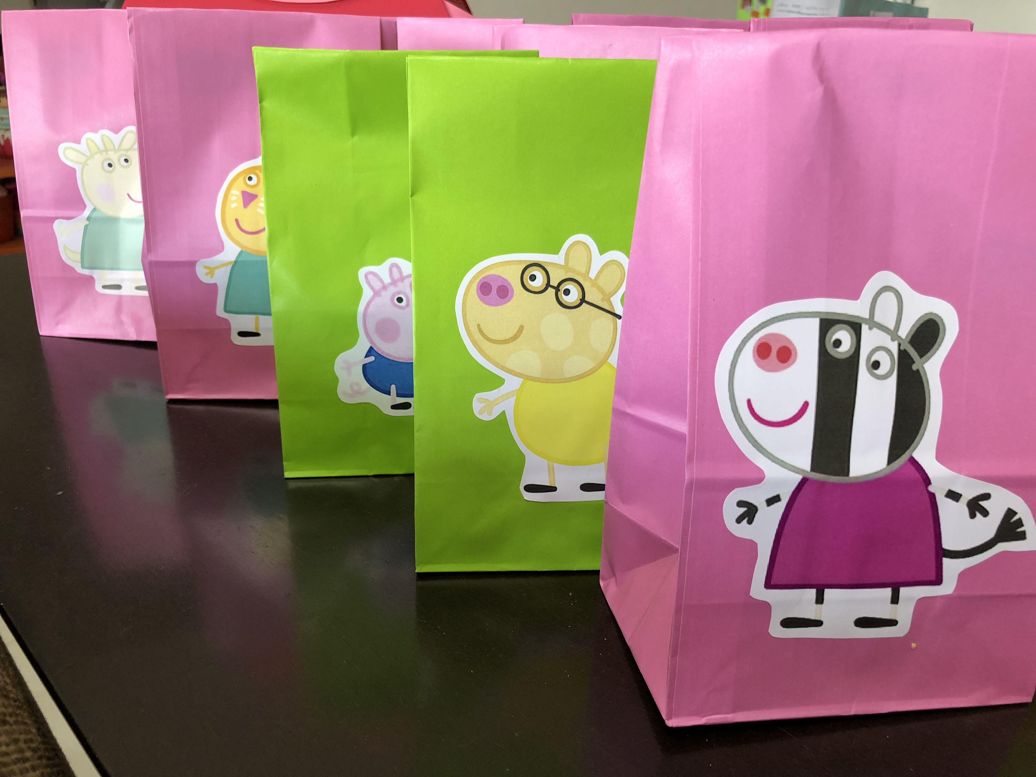0a43fb410 Souvenir Peppa Pig Bolsas De Dulces, Bolsitas, Cumple Peppa, Bolsas  Personalizadas, Souvenirs