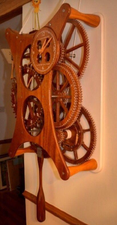Wooden Gear Clock Wwwclassicsailboatscouk Wood Clocks