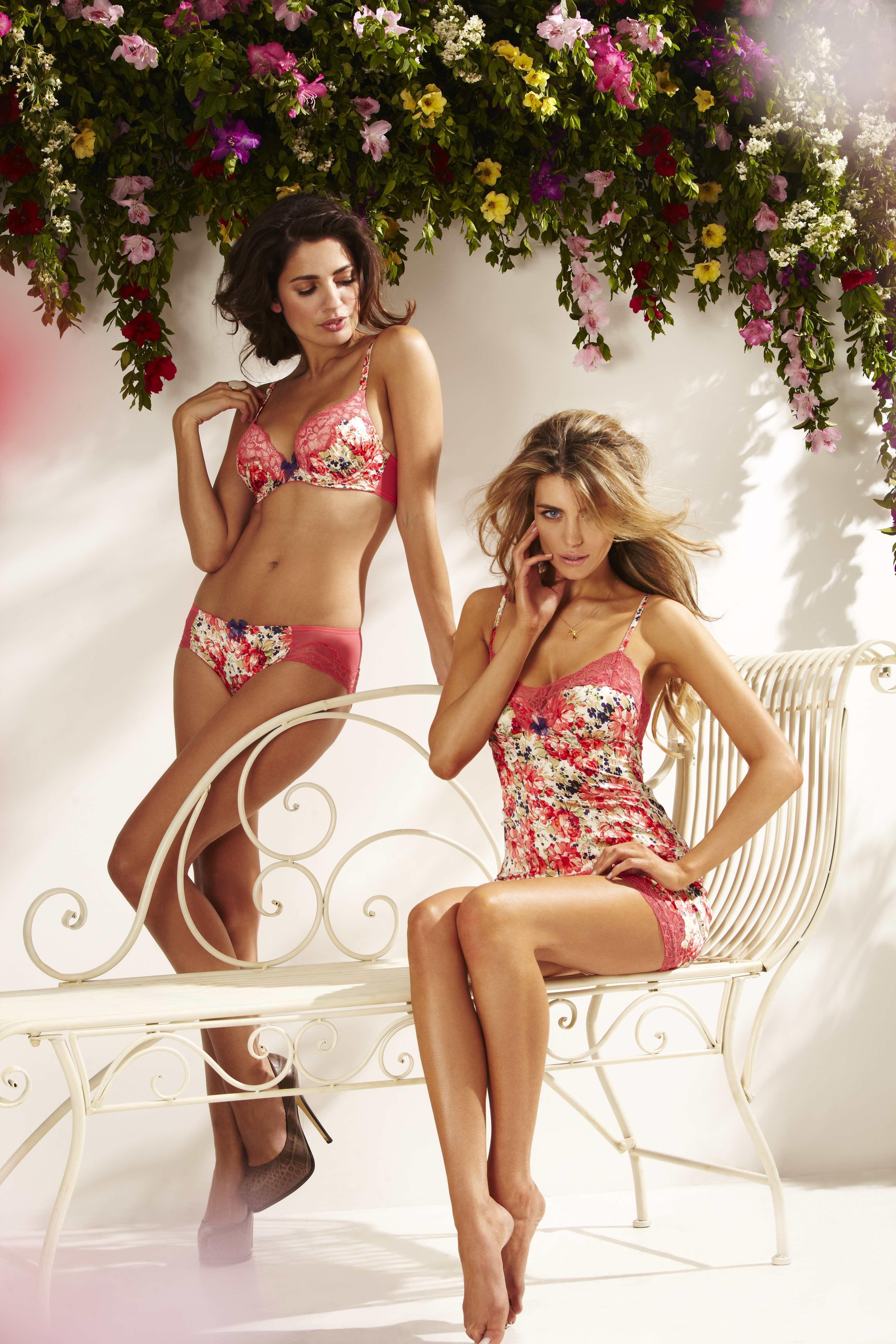 f418ec08995a2 Gossard Lingerie Spring Summer flower inspiration shoot with Elle Liberachi    Eva Smite. Photographer Ben Riggott