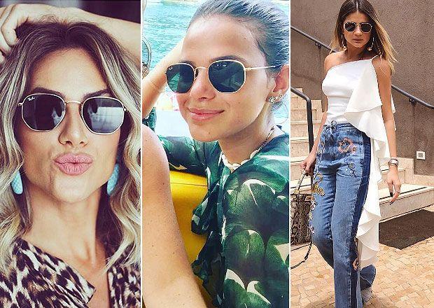 e2fd0ebb5ac2e Óculos de sol hexagonal viram tendência entre famosas e fashionistas ...