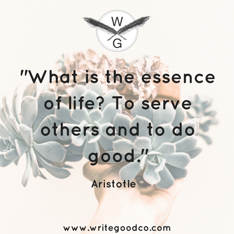 We Want To Thank All The Great Nonprofit Workers Out There Who Embody This Quote What Is The Essence Of Life To Serve Others Fun Things To Do Greatful Life