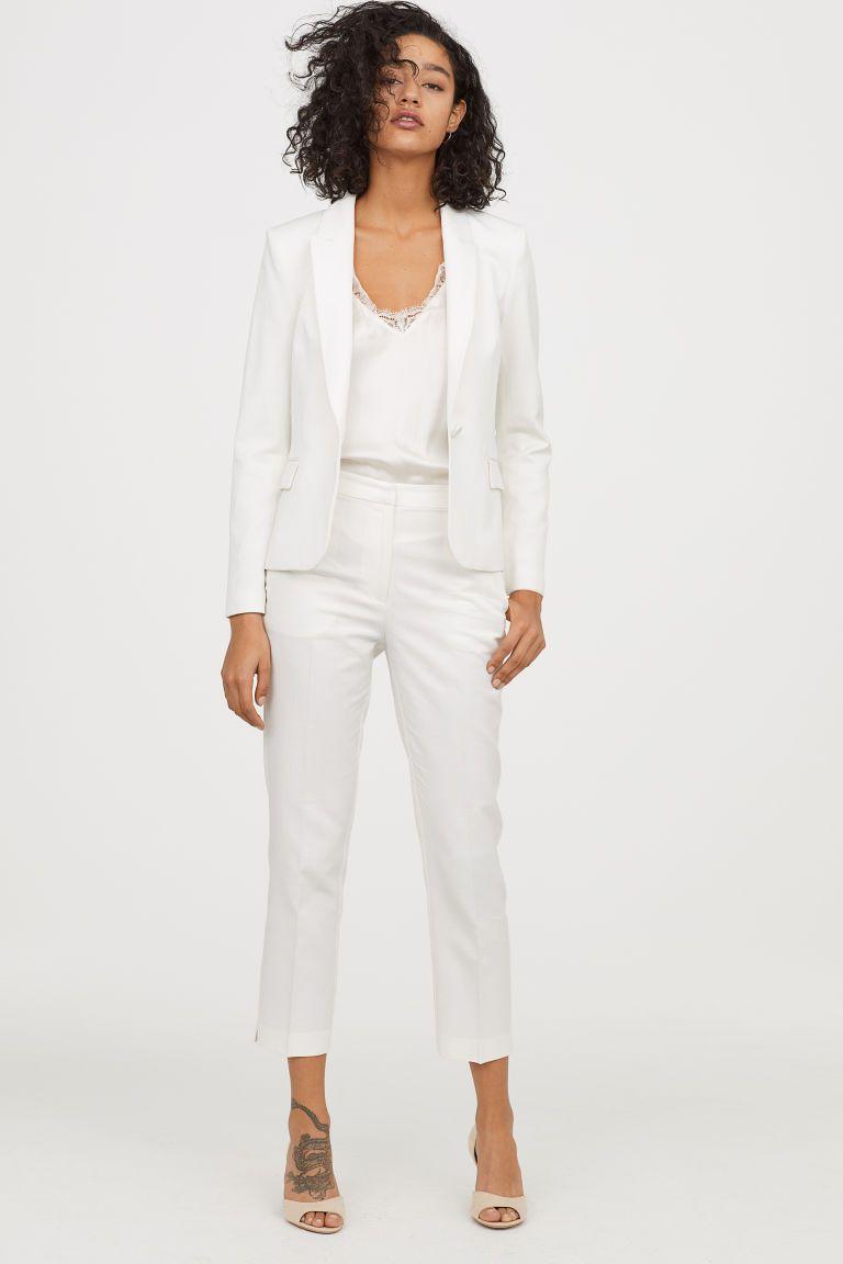 белые джинсы hm