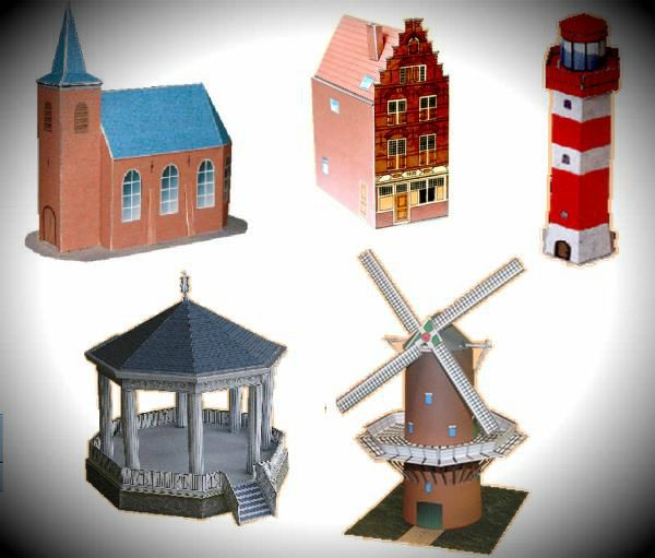 Dutch Architectural Paper Models - by Consola Papercraft