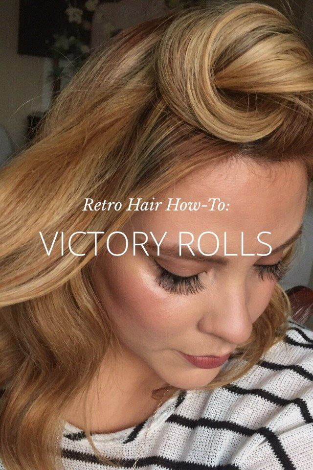 Victory Rolls Retro Hair How To Pinterest Retro Hair Victory