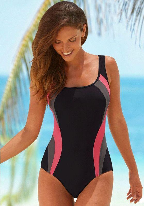 Lascana Sports Professional One Piece Bathing Suit M Xl Women S One Piece Swimsuits Girls Bathing Suits Women S Sports Swimwear