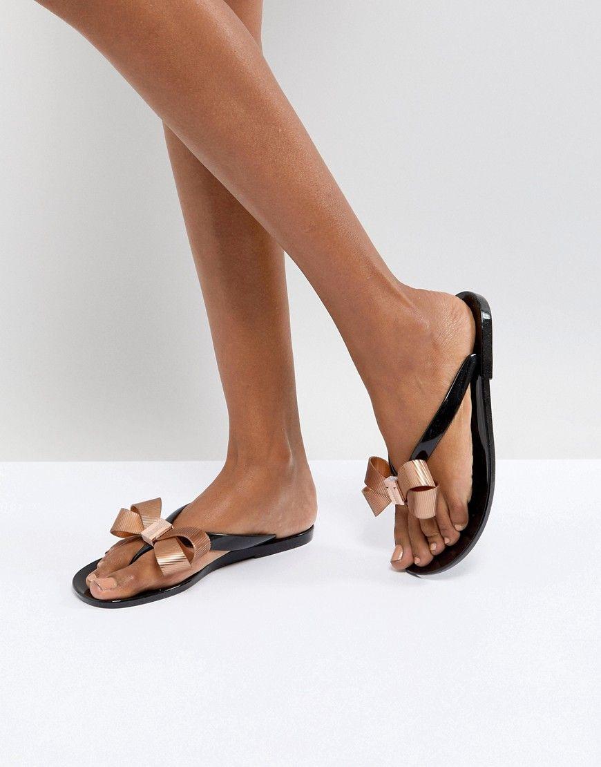 c01d093f407a3b TED BAKER SUSZIE BLACK FLIP FLOPS - BLACK.  tedbaker  shoes