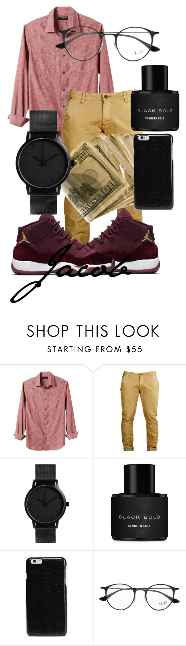 """""""12.30.16"""" by mickeiimarie on Polyvore featuring Banana Republic, Kenneth Cole, Maison Margiela and Ray-Ban"""
